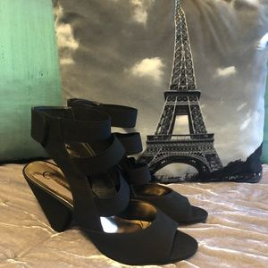 Worn Once Cato Black Suede 3 inch Heels